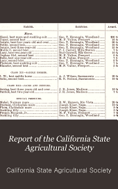 Report of the California State Agricultural Society