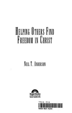 Helping Others Find Freedom in Christ