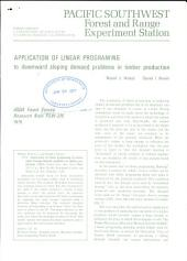 Application of linear programming to downward sloping demand problems in timber production
