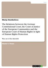The Relations between the German Constitutional Court, the Court of Justice of the European Communities and the European Court of Human Rights in light of Human Rights Protection: Way out of the labyrinth