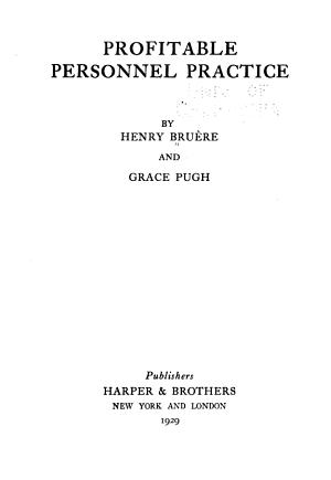 Profitable Personnel Practice PDF
