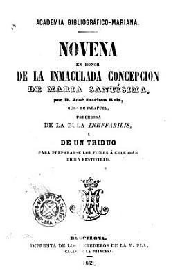 Novena En Honor De La Inmaculada Concepcion De Mar A Sant Sima