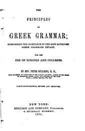The Principles of Greek Grammar ...