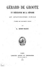 Gerard de Groote: un précurseur de la réforme au quatorzième siècle