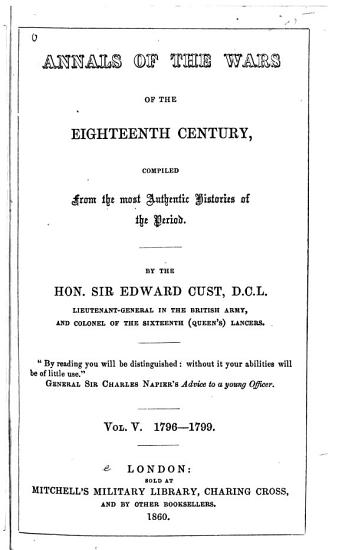Annals of the Wars of the Eighteenth Century PDF