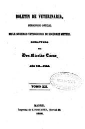 Boletín de veterinaria: periódico oficial de la Sociedad Veterinaria de Socorros Mutuos, Volumen 12,Números 325-358