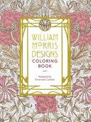 William Morris Designs Coloring Book