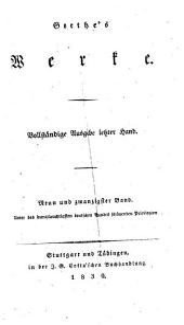 Goethe's Werke: Bände 29-30