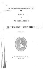 List of Publications of the Smithsonian Institution: Volume 1879