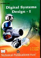 Digital Systems Design   I PDF