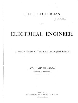 The Electrician and Electrical Engineer PDF