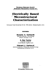 Electrically Based Microstructural Characterization