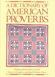 A Dictionary of American Proverbs PDF