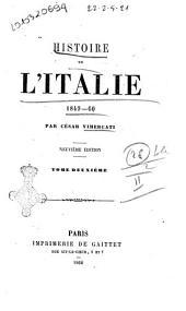 Histoire de l'Italie 1849-60: Volume2