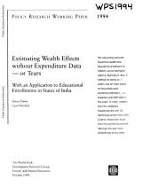 Estimating Wealth Effects Without Expenditure Data, Or Tears: An Application to Educational Enrollments in States of India, Volume 1994
