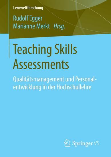 Teaching Skills Assessments PDF