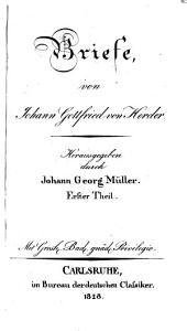 J.G. v. Herders sämmtliche Werke: Band 21,Teile 9-10