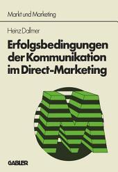 Erfolgsbedingungen der Kommunikation im Direct-Marketing