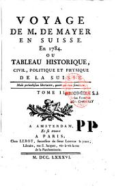 Voyage en Suisse en 1784