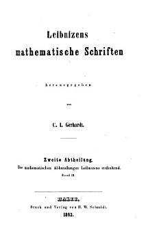 Leibnizens mathematische schriften  Briefwechsel PDF