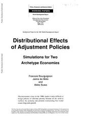 Distributional Effects of Adjustment Policies: Simulations for Two Archetype Economies