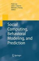 Social Computing  Behavioral Modeling  and Prediction PDF