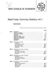 Retail trade, summary statistics. 5 v