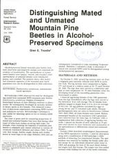 Distinguishing mated and unmated mountain pine beetles in alcohol-preserved specimens