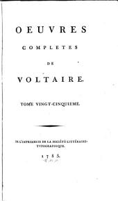 Œuvres complètes de Voltaire: Volume25