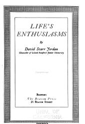 Life's Enthusiasms