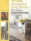 Modern Real Estate Practice in New York For Salespersons PDF