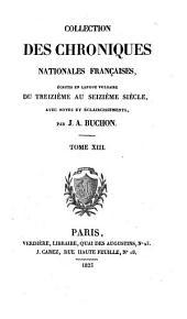 Les chroniques de Jean Froissart: Volume13