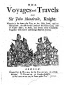 The Voyages and Travels of Sir John Mandevile, Knight