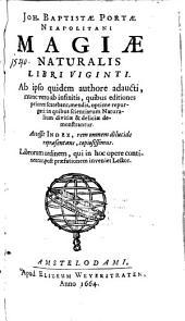 Magiae Naturalis libri viginti