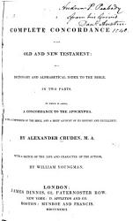 A Complete Concordance to the Old and New Testament PDF