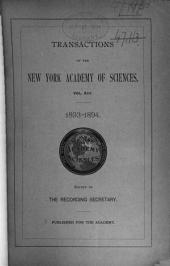 Transactions of the New York Academy of Sciences: Volumes 13-14