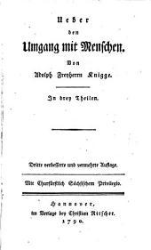 Ueber den Umgang mit Menschen: In drey Theilen. 1