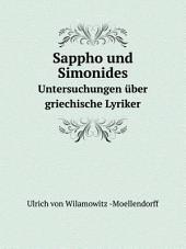 Sappho und Simonides