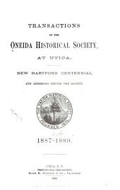 Transactions of the Oneida Historical Society at Utica