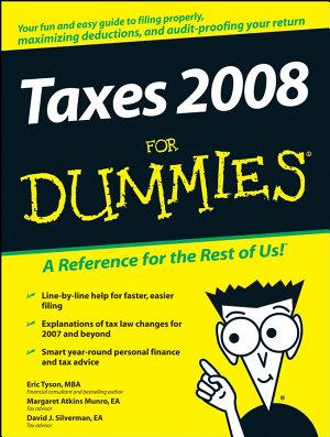 Taxes 2008 For Dummies PDF