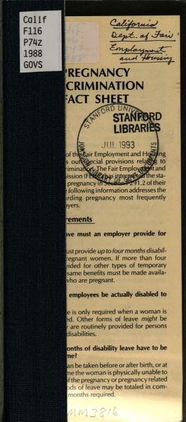 Pregnancy discrimination fact sheet