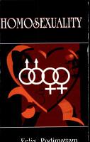 Homosexuality PDF