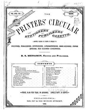 The Printers  Circular and Stationers  and Publishers  Gazette PDF