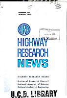 Highway Research News PDF