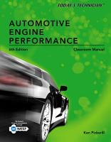 Today s Technician  Automotive Engine Performance  Classroom and Shop Manuals PDF