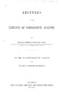 Lectures on the Elements of Comparative Anatomy PDF