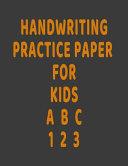 Handwriting Practice Paper for Kids