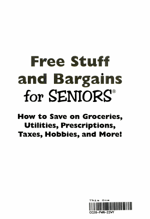 The Bargain Book for Savvy Seniors
