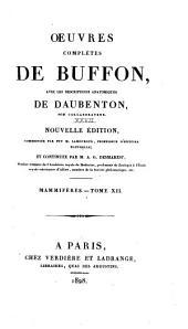 Oeuvres complètes de Buffon: avec les descriptions anatomiques de Daubenton, son collaborateur, Volume27,Partie12