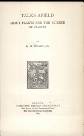 Talks Afield about Plants and the Science of Plants